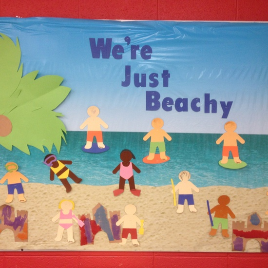 Were-Just-Beachy-Summer-Bulletin-Board-Idea