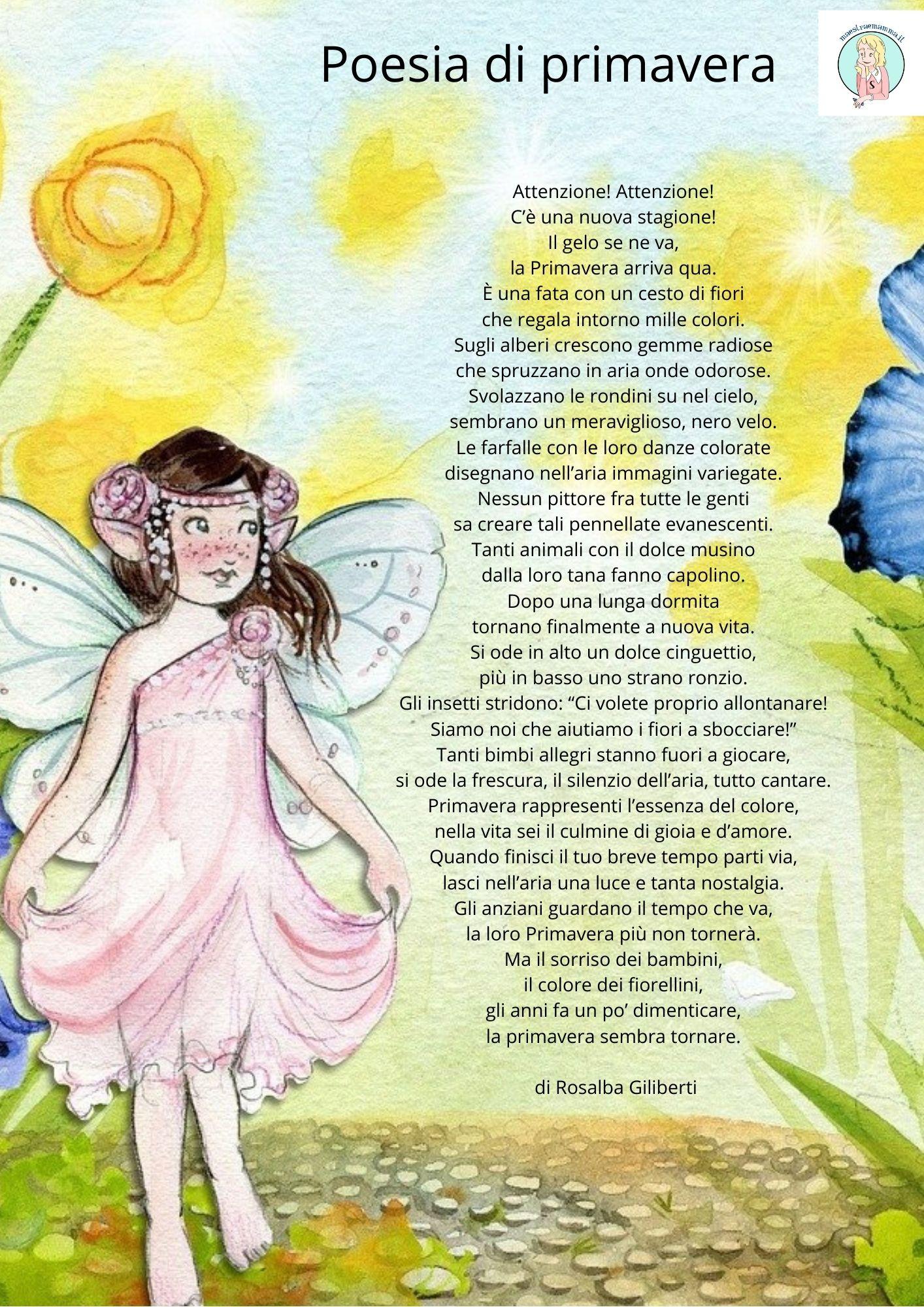 Poesia di primavera per bambini di Rosalba Giliberti