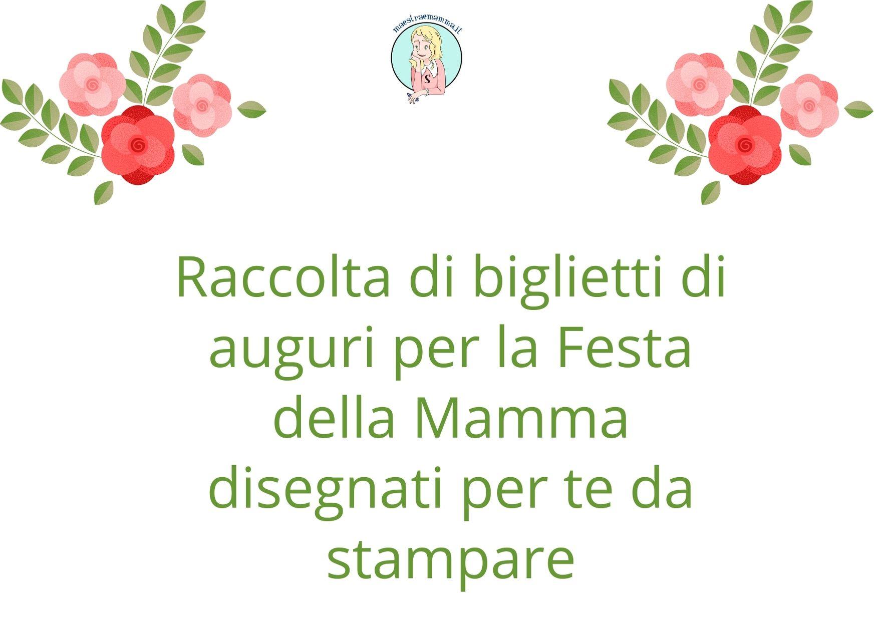 Festa della mamma – biglietto d'auguri da stampare