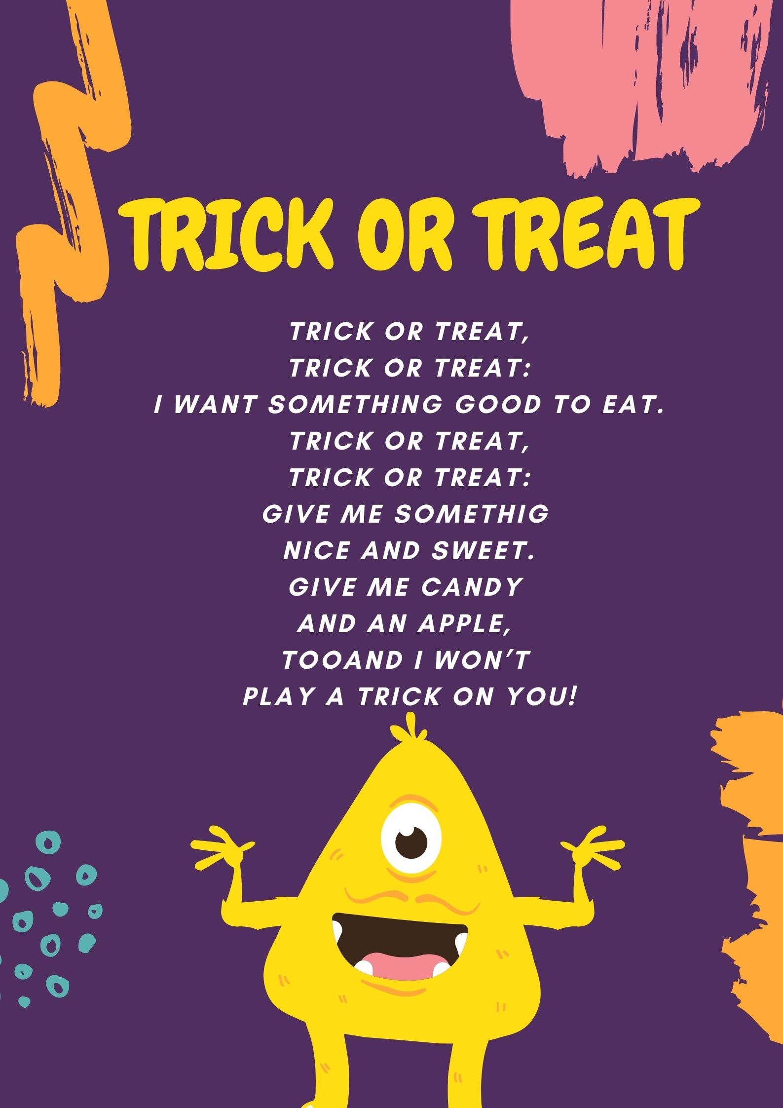 Trick or Treat Halloween - Scary Rhymes (poesie in inglese)