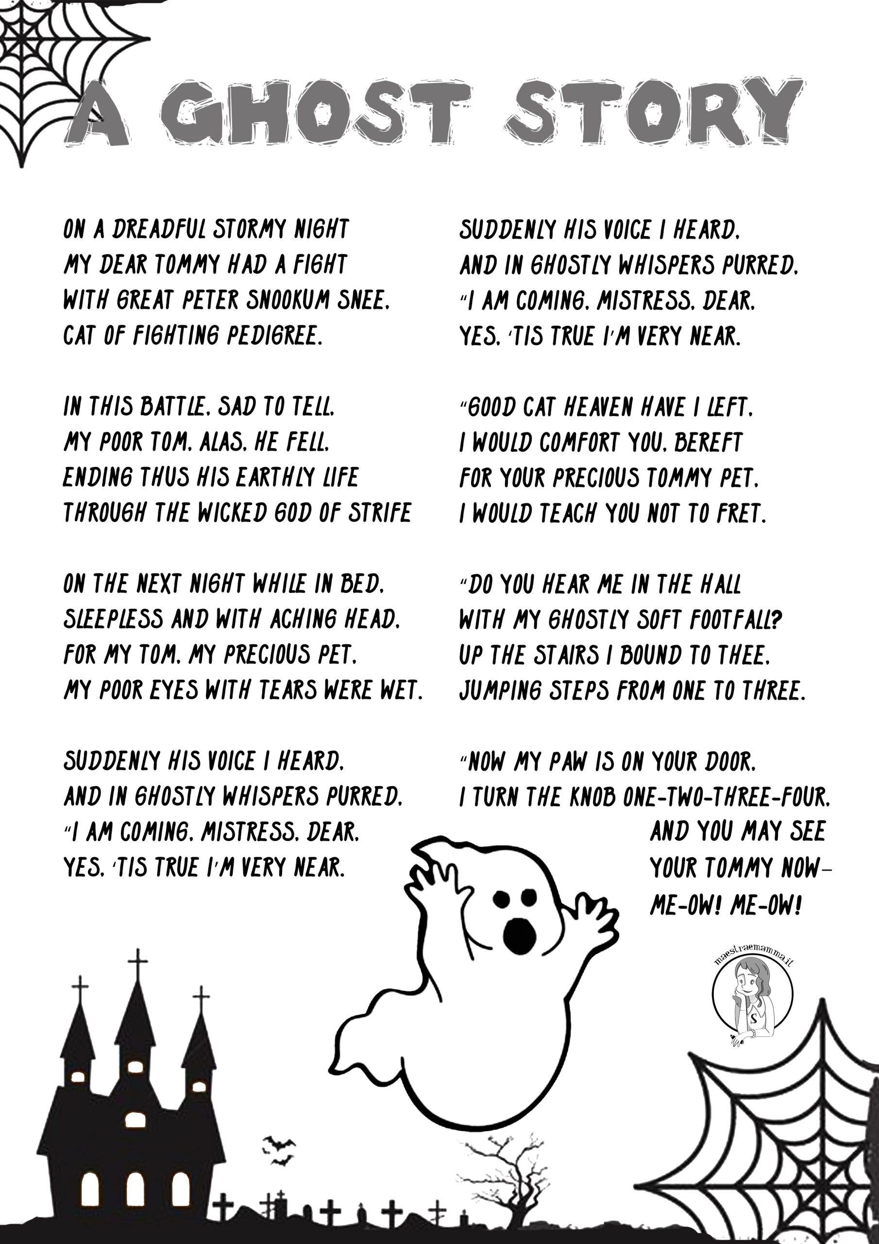 Halloween - Scary Rhymes (poesie in inglese) aghost story