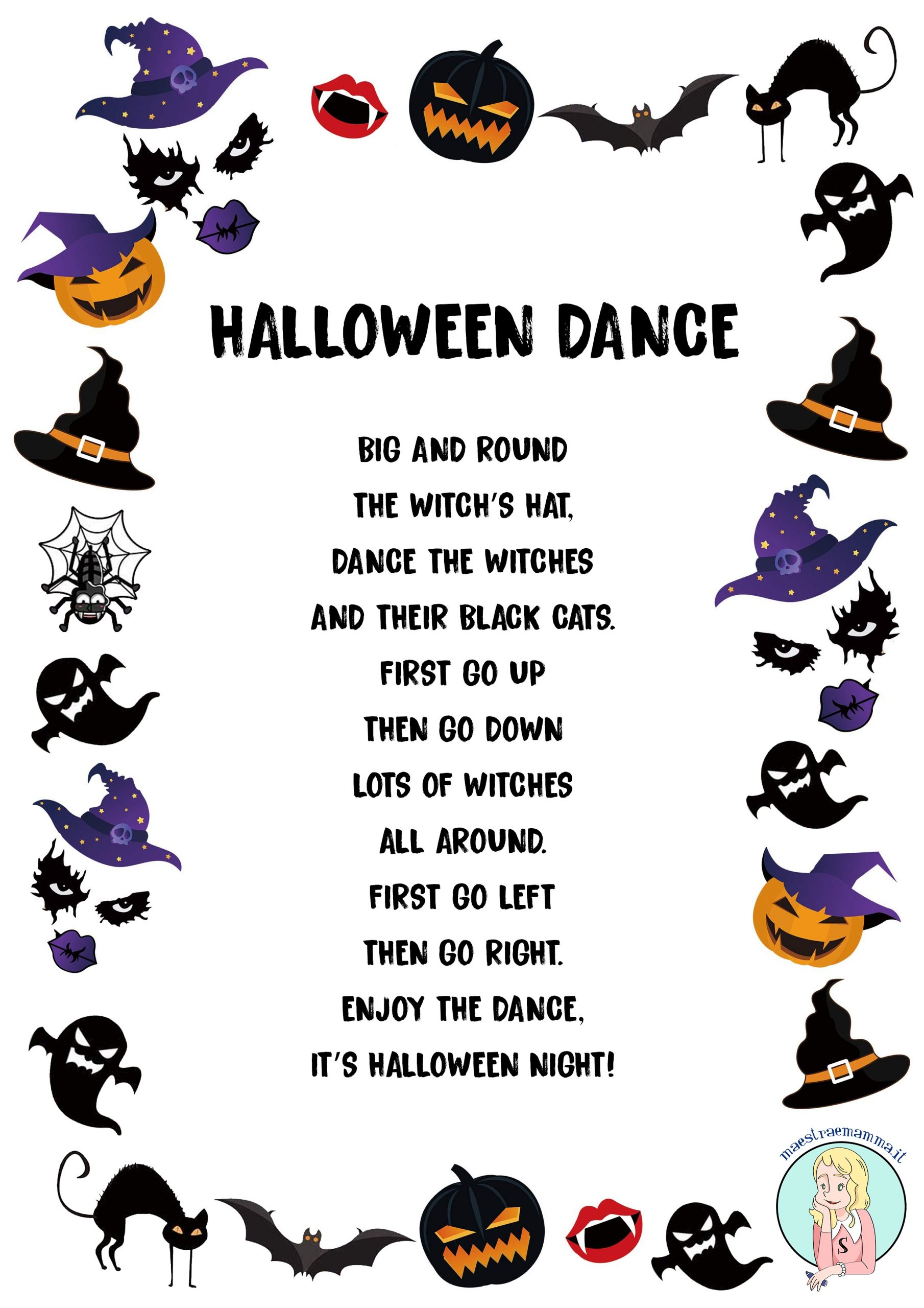 halloween dance Halloween - Scary Rhymes (poesie in inglese) aghost story scary rhymes poems for kids