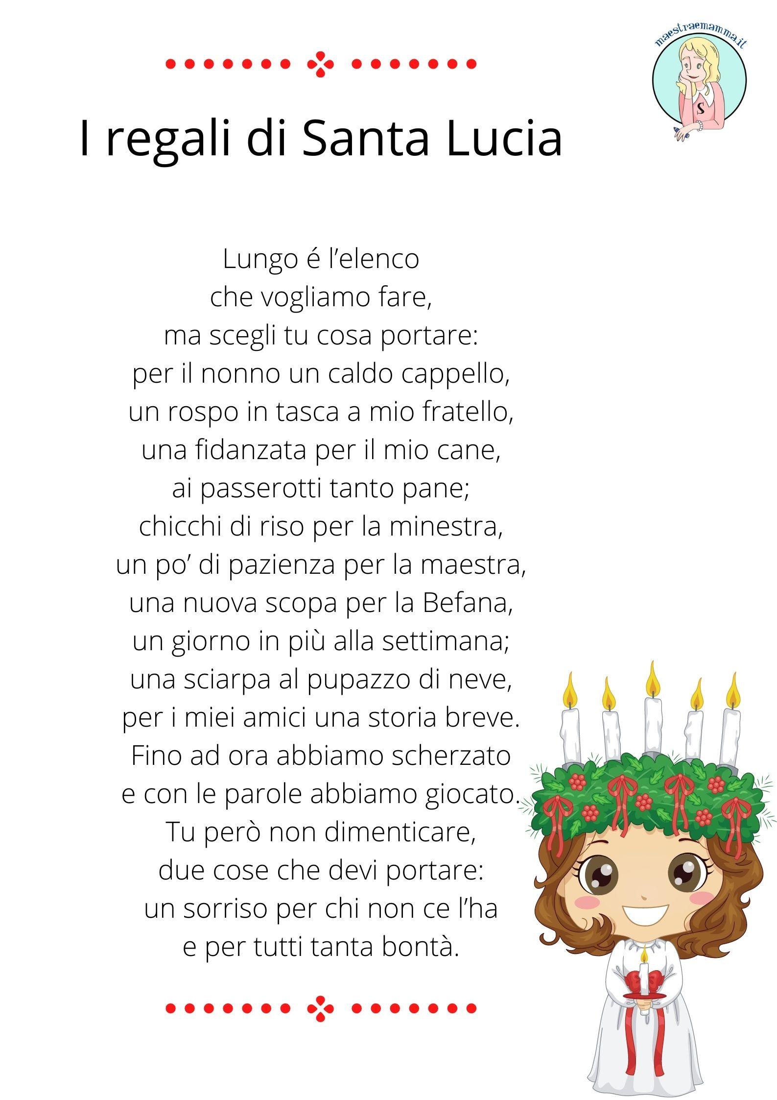 I regali di Santa Lucia (poesia)