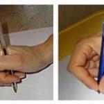 impugnatura corretta della matita penna
