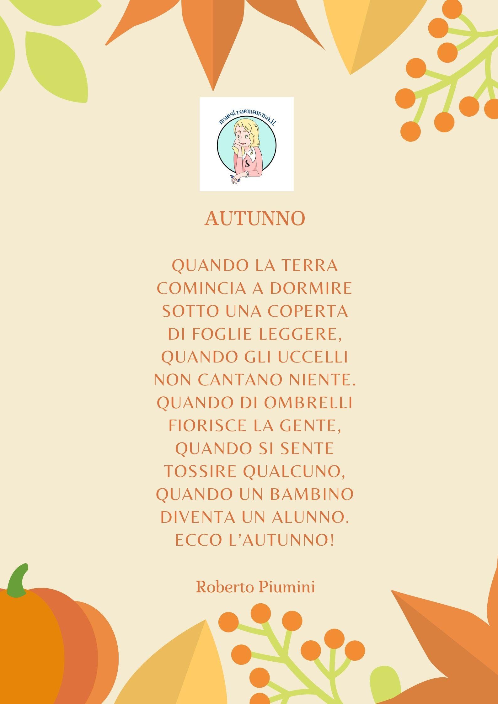 scuola Roberto Piumini autunno poesia