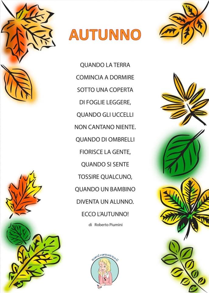 autunno di roberto piumini poesia da stampare a colori