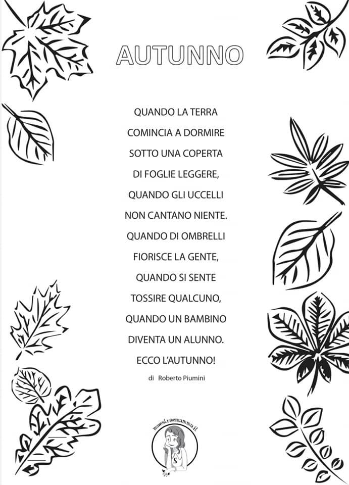 autunno di roberto piumini poesia da stampare
