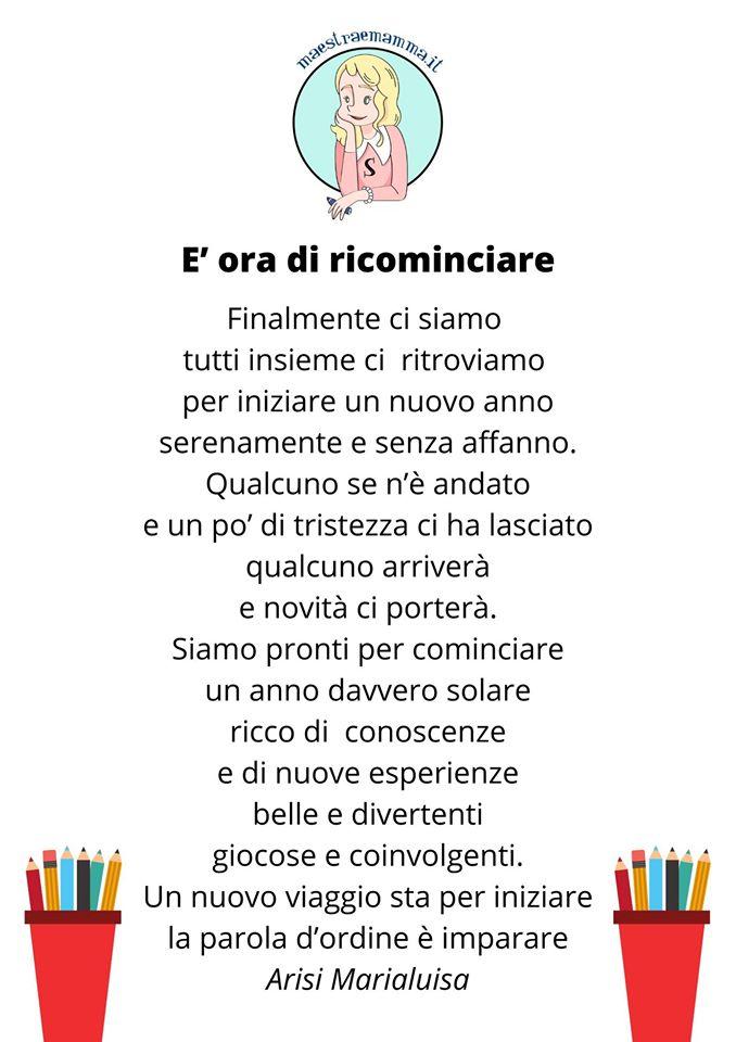 Poesia per il primo giorno di scuola