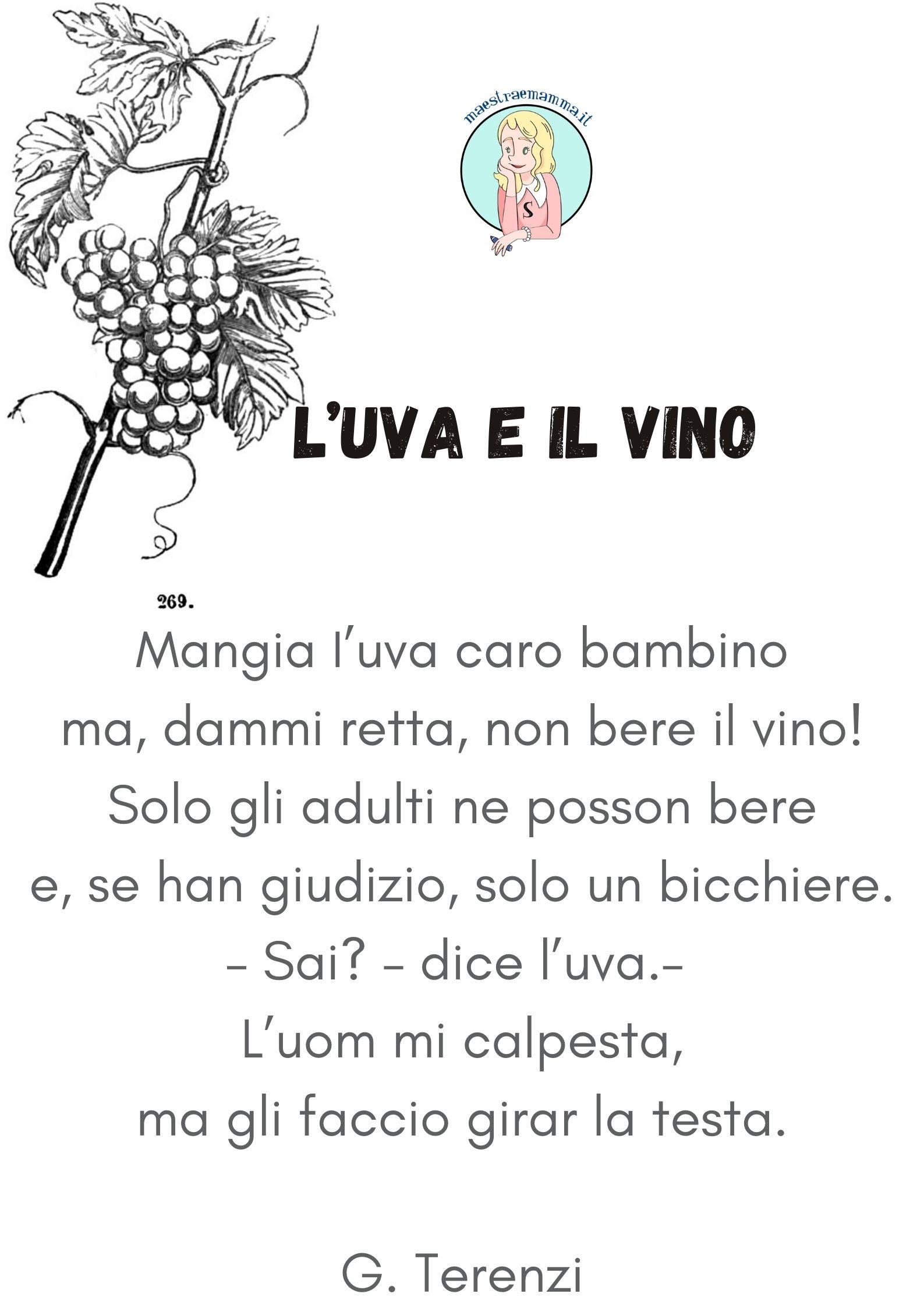 l uva e il vino di terenzi Poesie e filastrocche sulla vendemmia per bambini