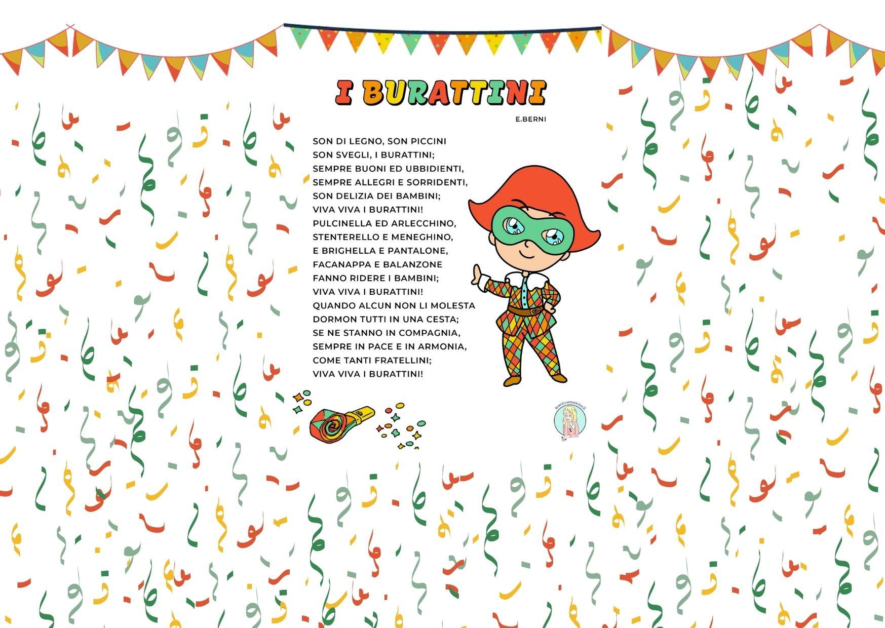 """Filastrocca di Carnevale scuola primaria: """"I burattini"""""""