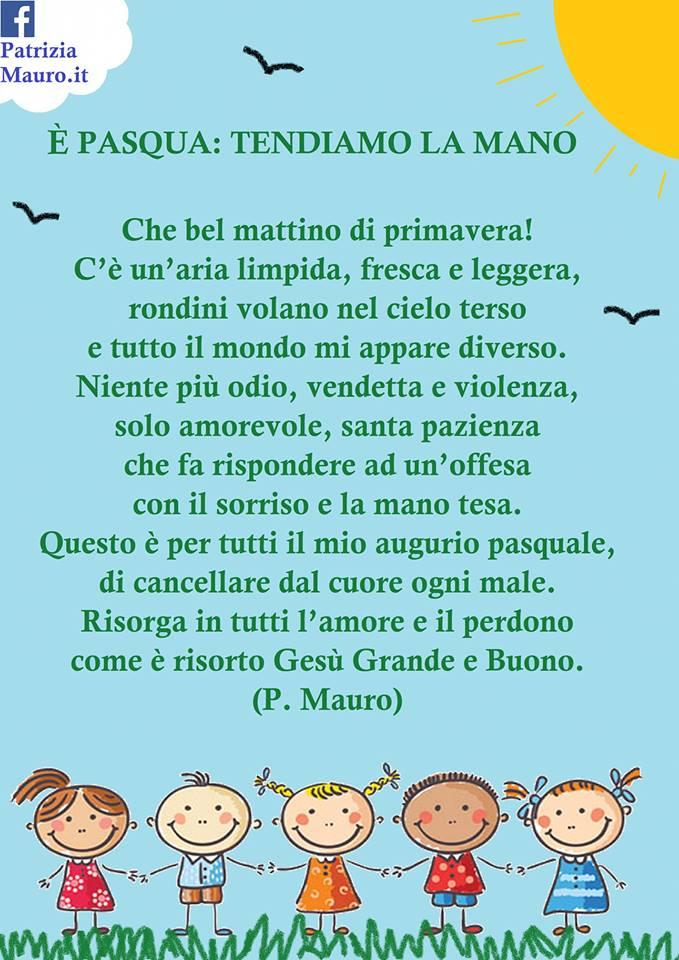 poesia Pasqua : è Pasqua tendiamo la mano di Patrizia Mauro