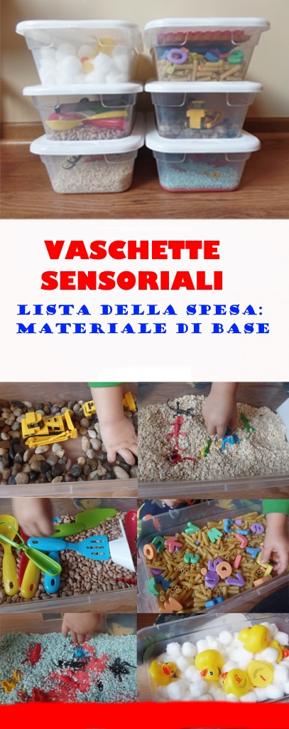 vaschette sensoriali scuola infanzia asilo nido