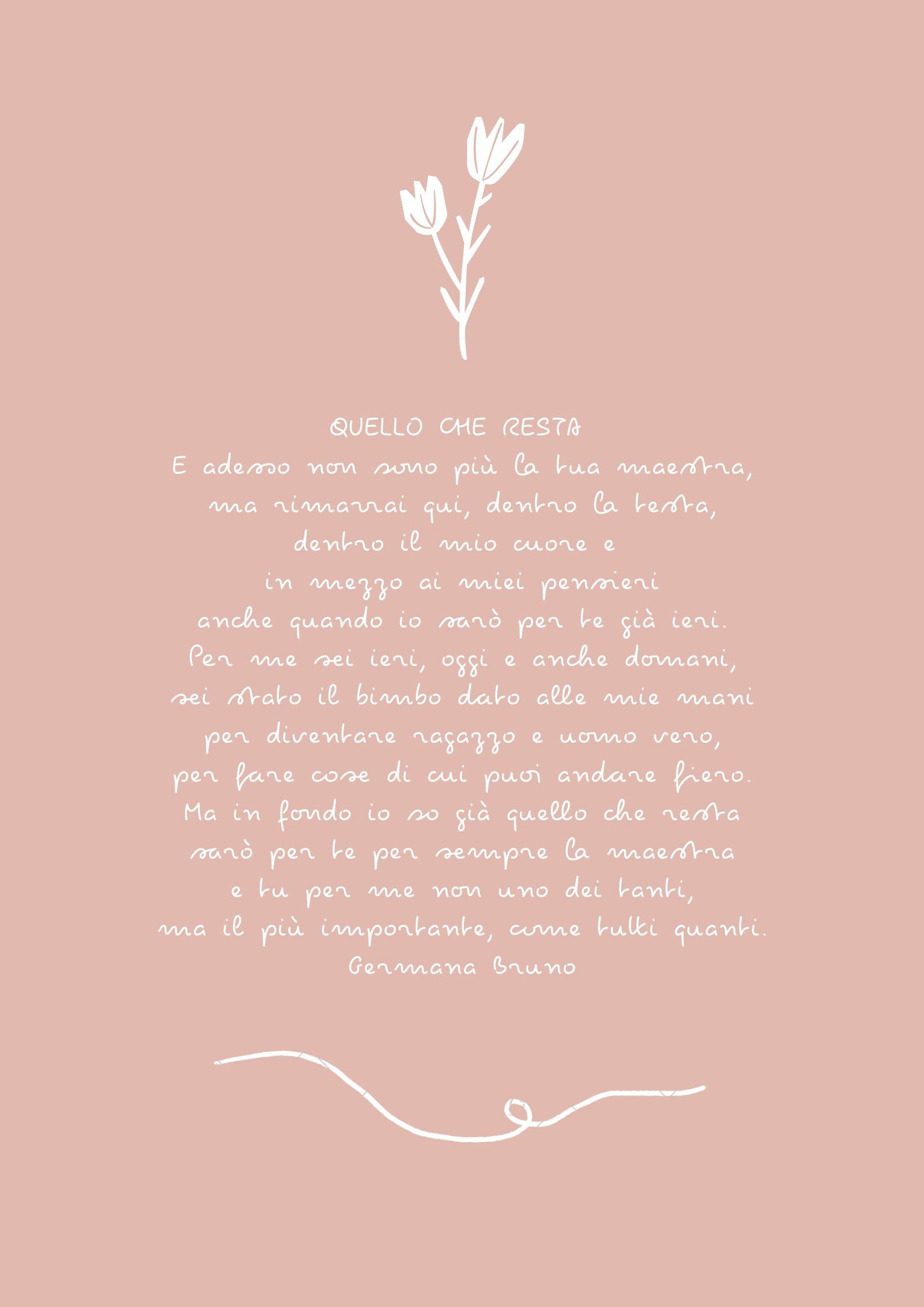 poesia e filastrocche quello che resta di germana bruno