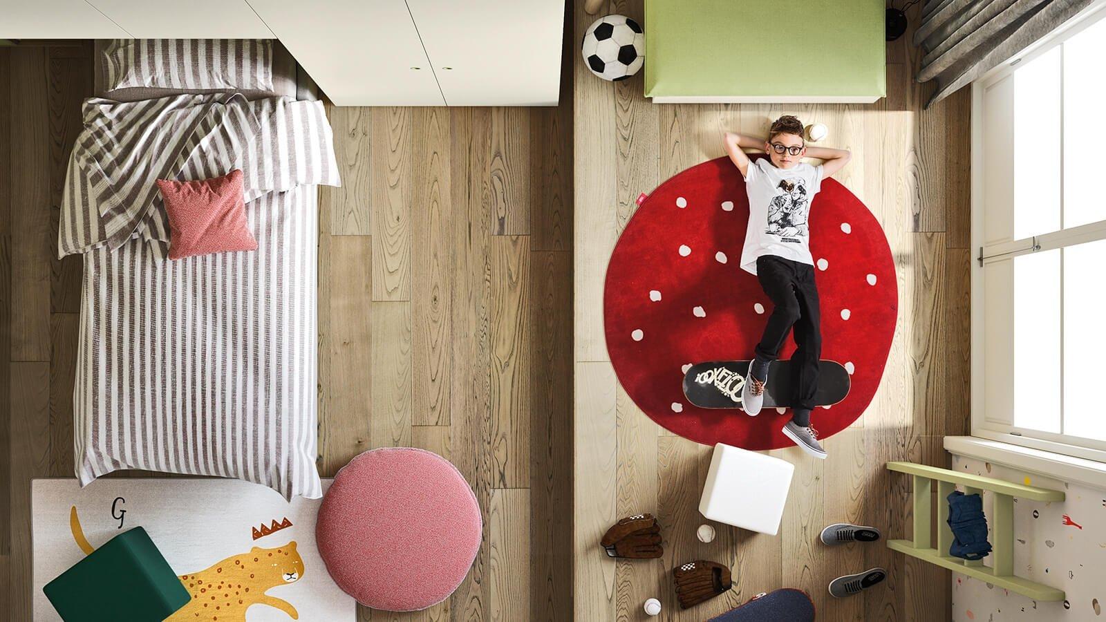 cameretta-bambini-tappetto-rosso