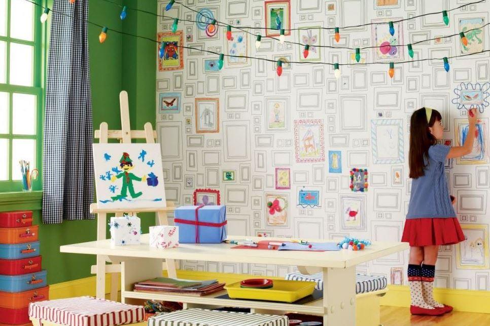 Carta Da Parati Per Camere Ragazzi : Carta da parati nelle camerette dei bimbi la mia passione