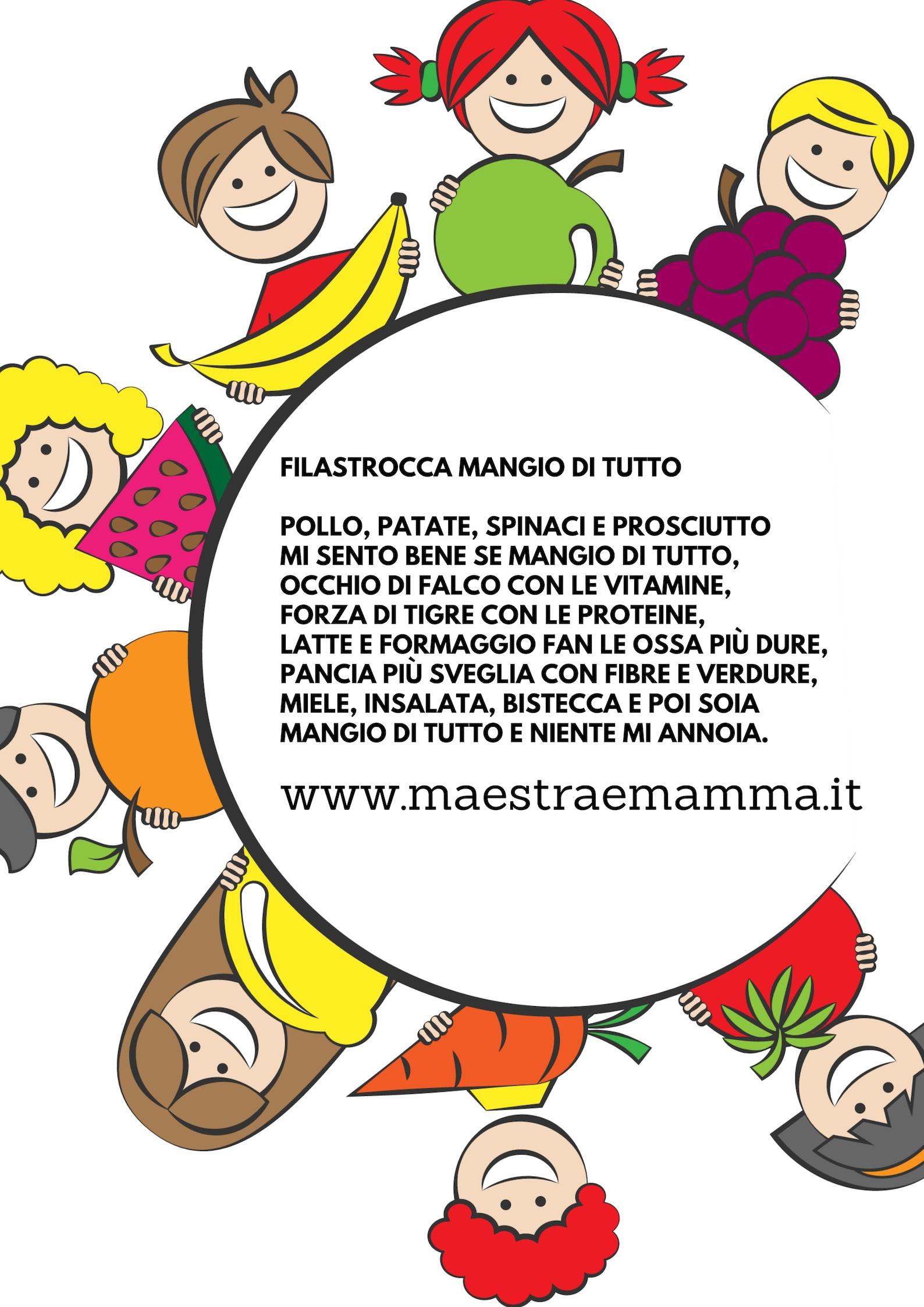 Filastrocca del buon appetito - FILASTROCCA MANGIO DI TUTTO