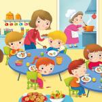 canzone filastrocca mentre i bambini mangiano in mensa filastrocca buon appetito ora di pranzo