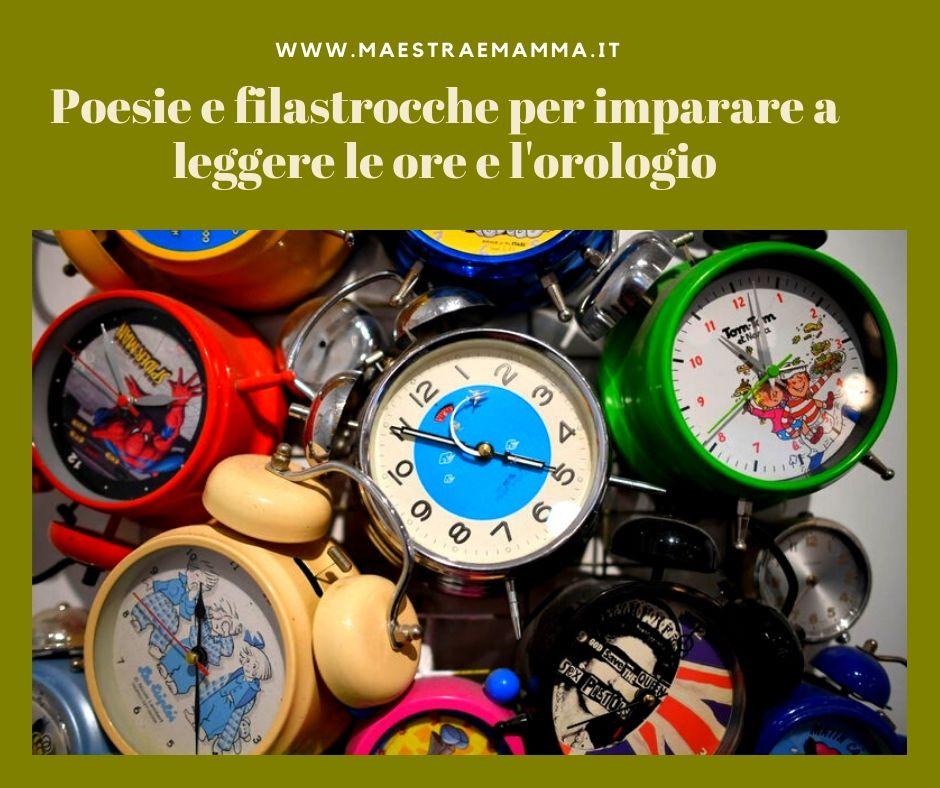 Poesie e filastrocche per imparare a leggere le ore e l' orologio