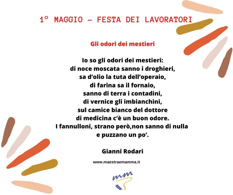 poesie e filastrocche di gianni rodari per festeggiare la festa del lavoro e del primo maggio