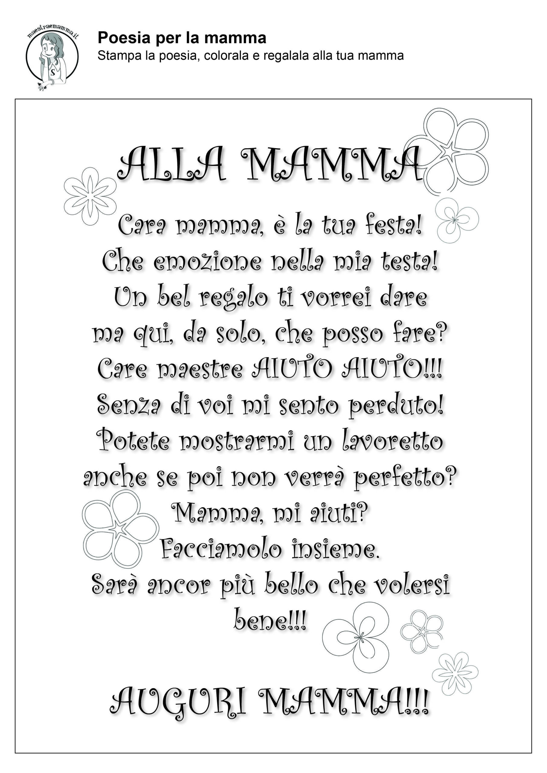 alla mamma-poesia-filastrocca-festa-della-mamma-in-quarantena-coronavirus-in bianco e nero