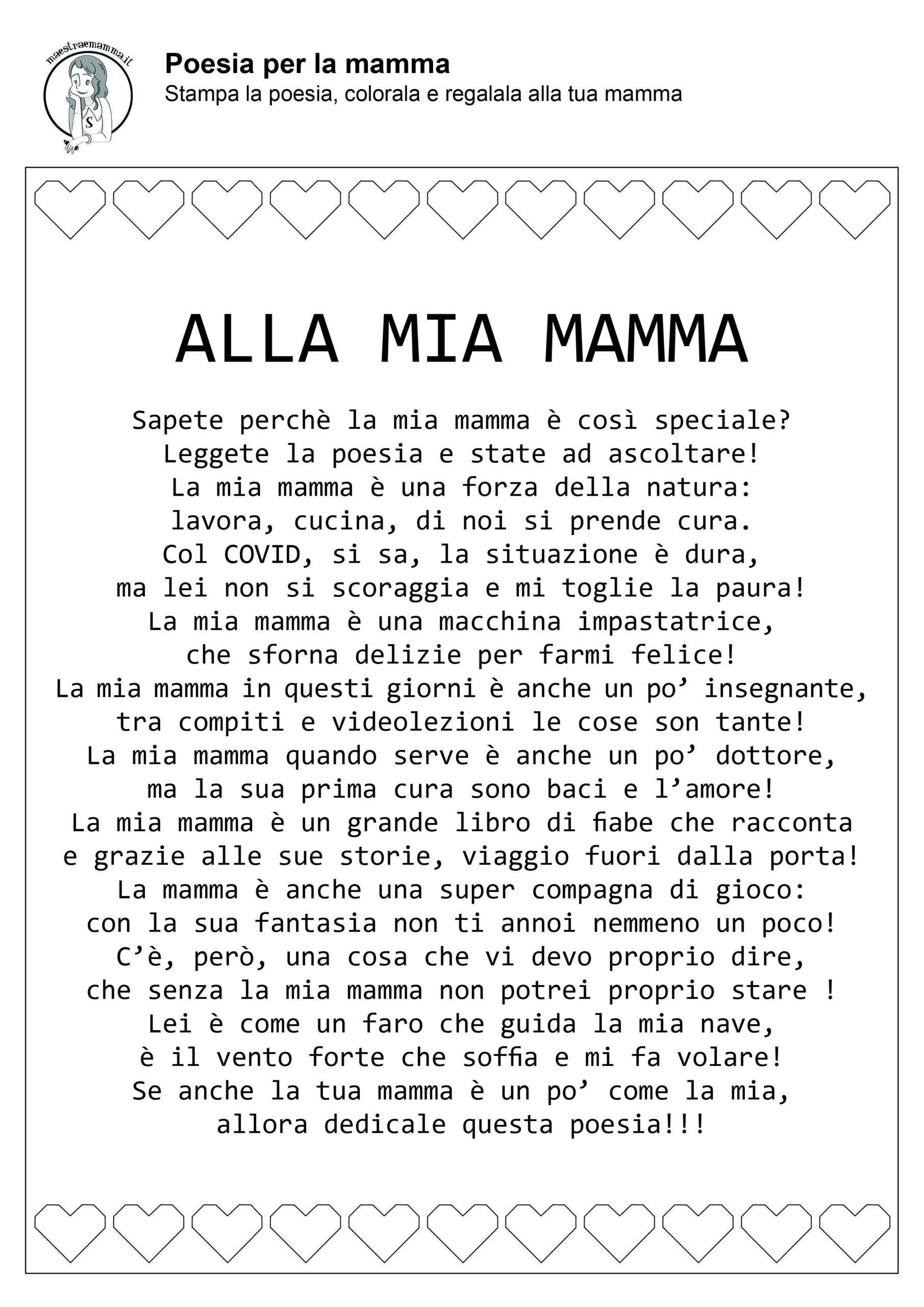 alla mia mamma-poesia-filastrocca-festa-della-mamma-in-quarantena-coronavirus-in-bianco-e-nero