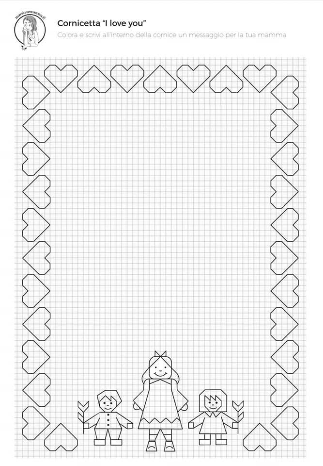 cornicetta-disegno-geometrico-festa-della-mamma-scuola-primaria-per-bambini-in-bianco-e-nero