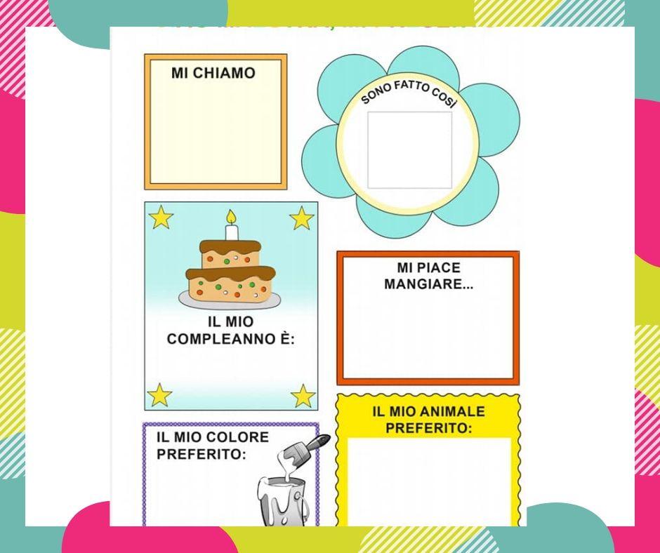 """Lapbook per progetto continuità: """"Mi presento"""""""
