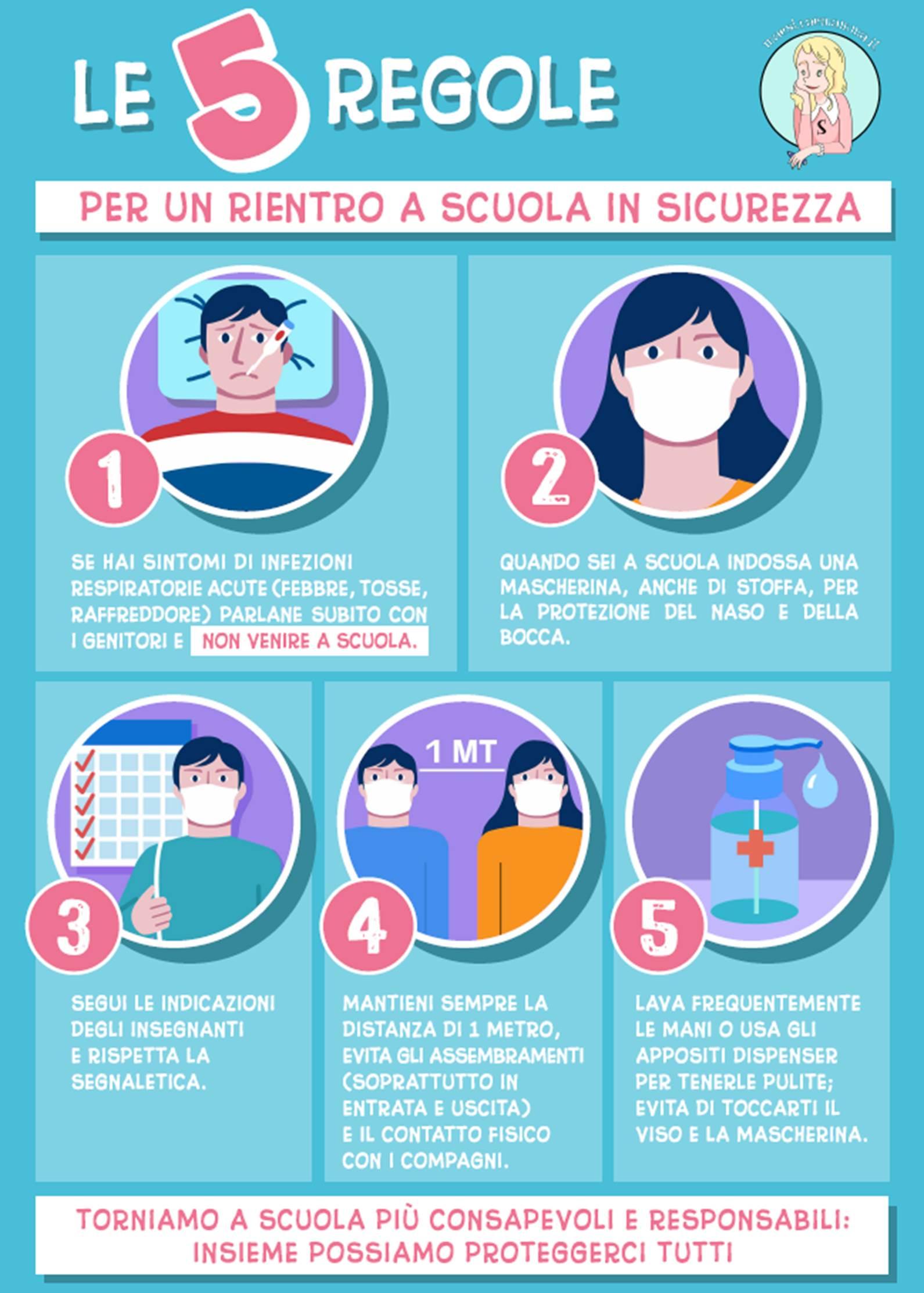 5 regole miur rientro a scuola in sicurezza a settembre