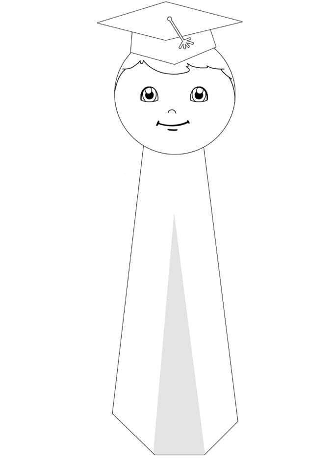 segnalibro bambino in bianco e nero lavoretti fine anno scolastico
