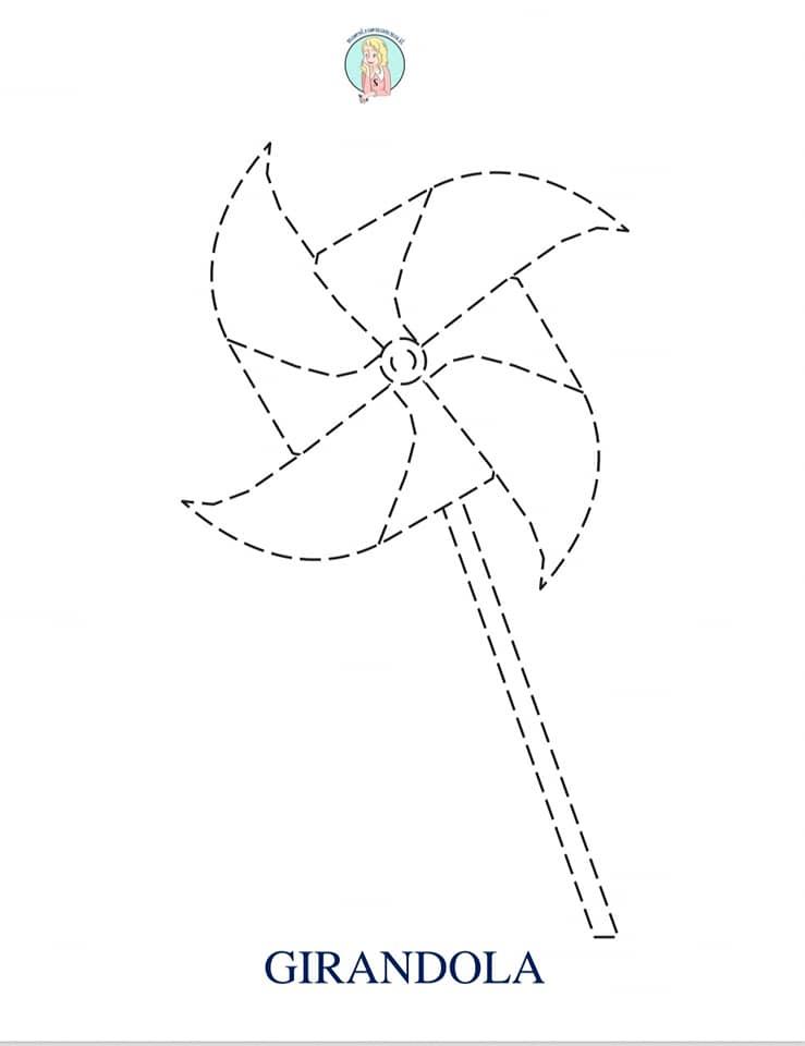 disegni estivi unisci e segui il tratteggio pregrafismi per bambini