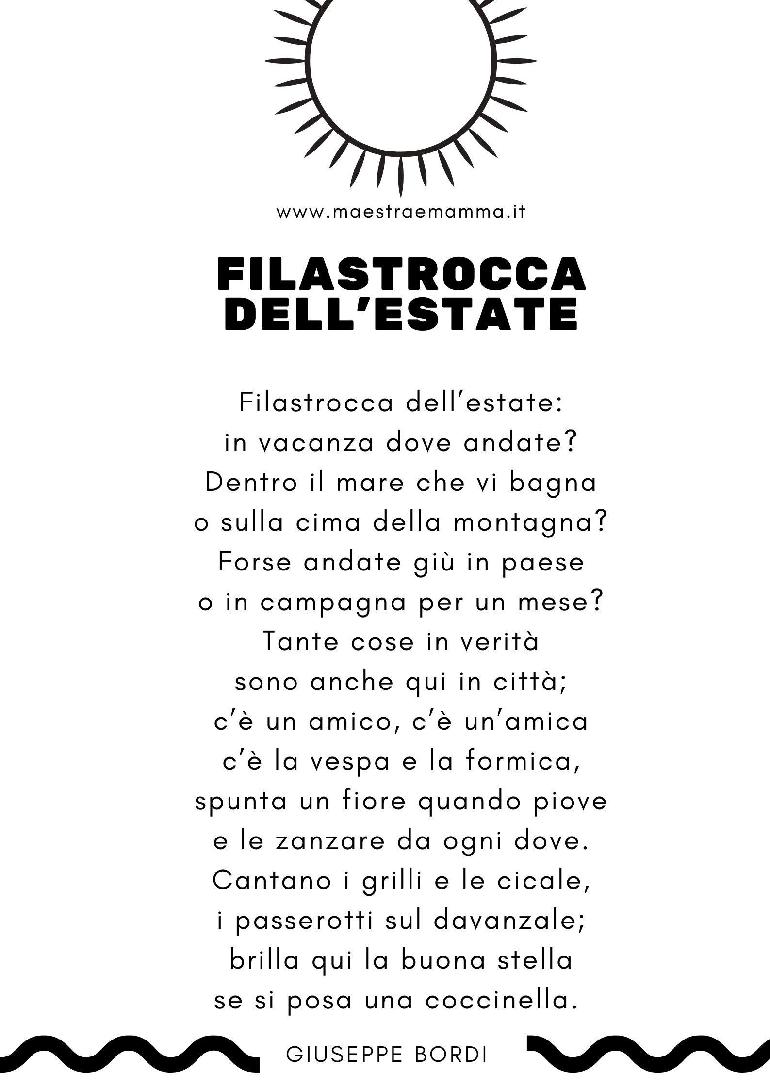 poesia filastrocca estate giuseppe bordi