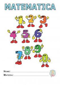 Copertine da stampare per quaderni - scuola primaria matematica a colori