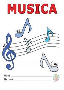 copertina quaderno di musica a colori