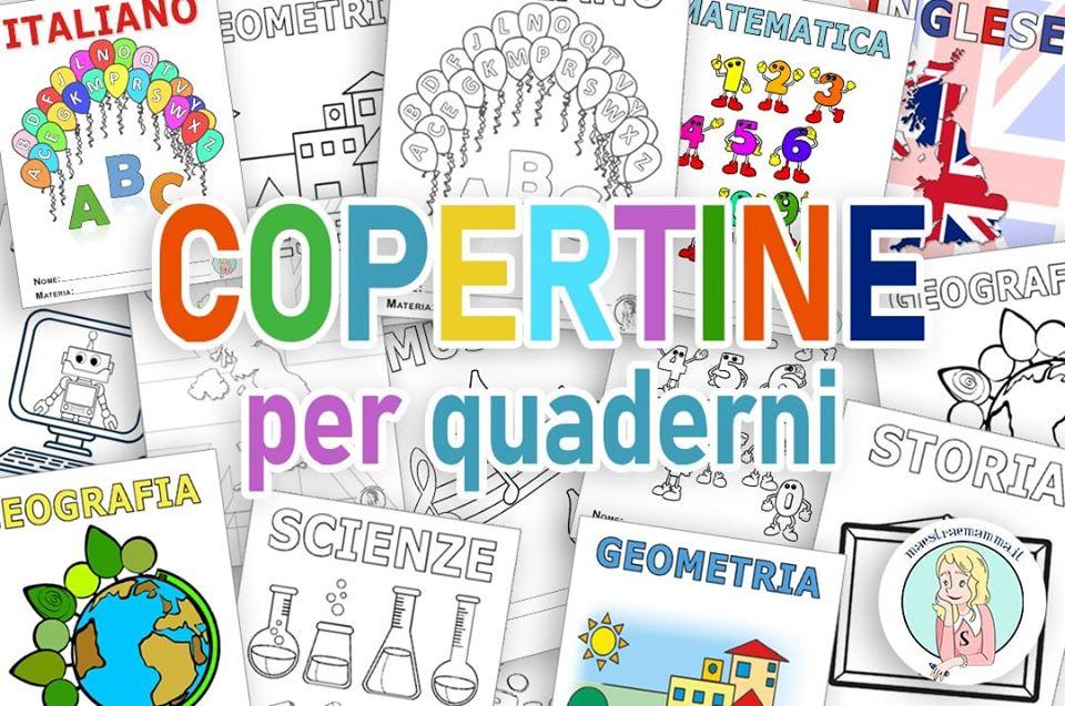 Copertine da stampare per quaderni – scuola primaria