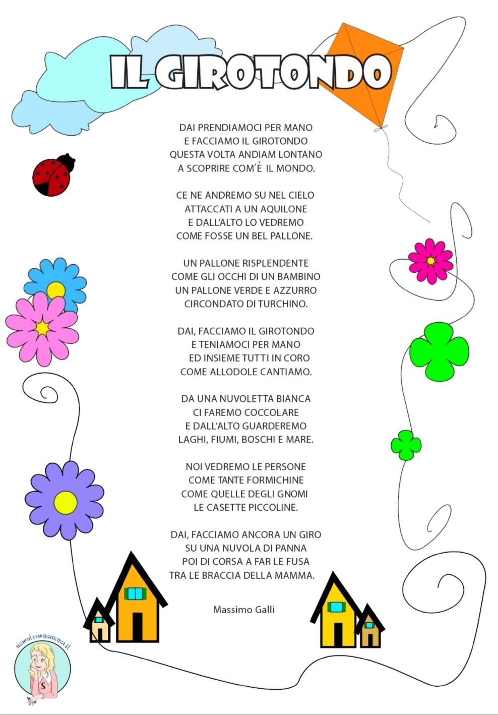 Il girotondo – poesia per l'accoglienza o per il progetto continuità