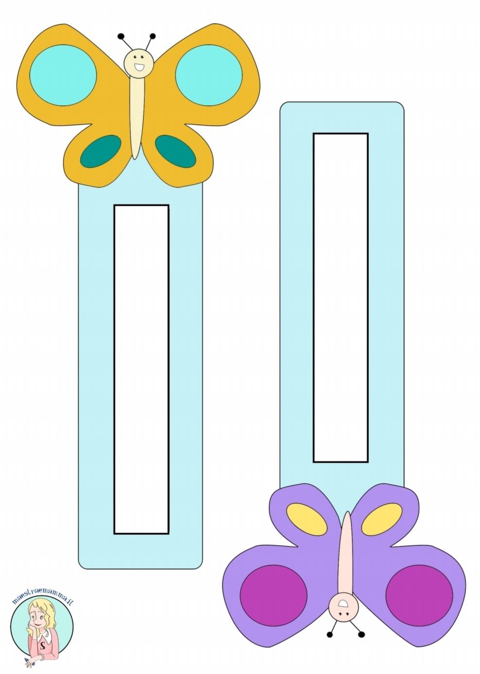 accoglienza segnalibro a forma di farfalla a colori per la scuola accoglienza maestraemamma
