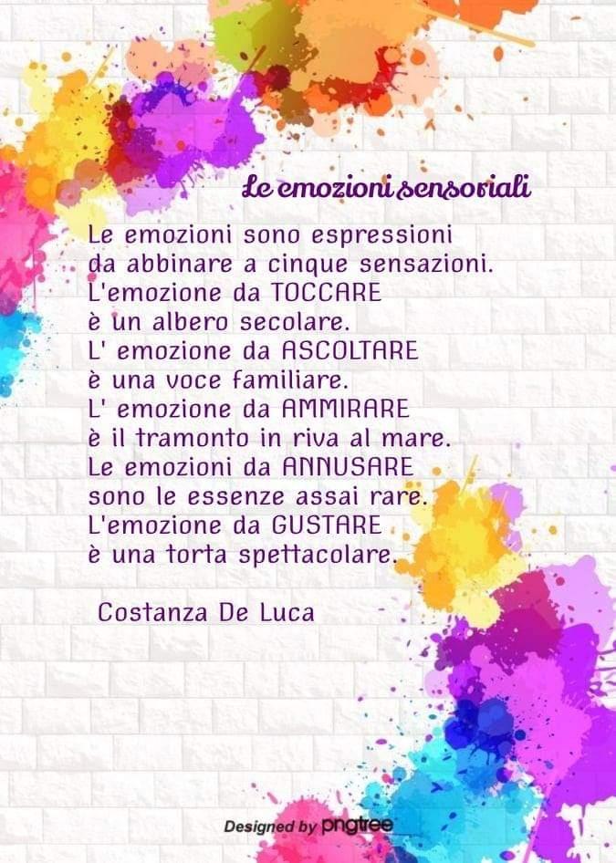 Le emozioni sensoriali – poesia