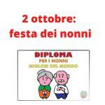 Diploma nonni migliori del mondo (2 ottobre festa dei nonni)