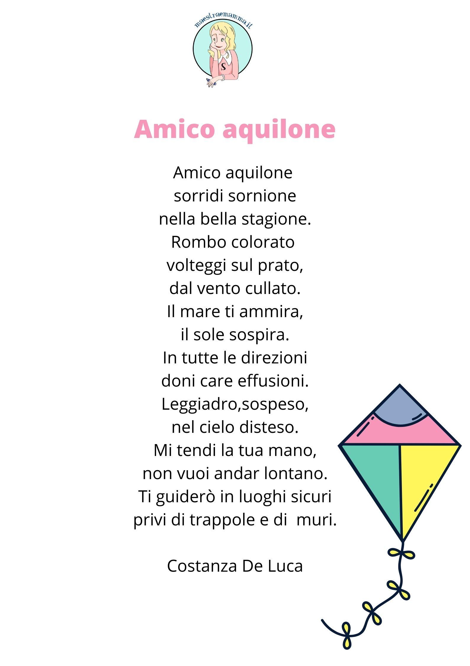 Amico aquilone - poesia di Costanza De Luca