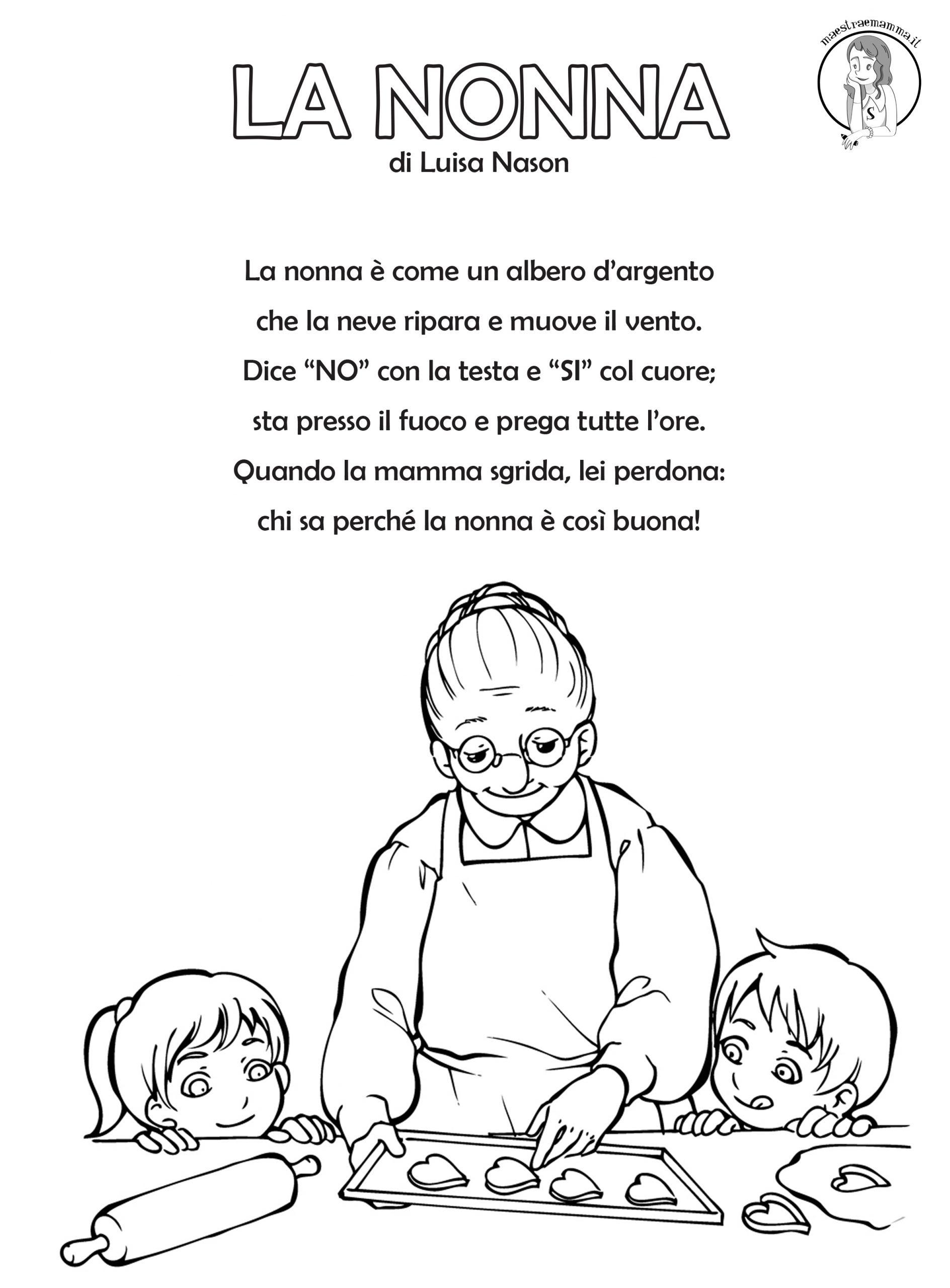 LA nonna poesia festa dei nonni 2 ottobre