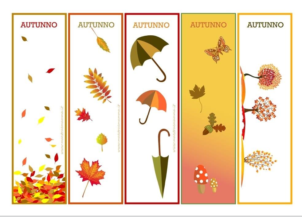 autunno segnalibri segnalibro da scaricare
