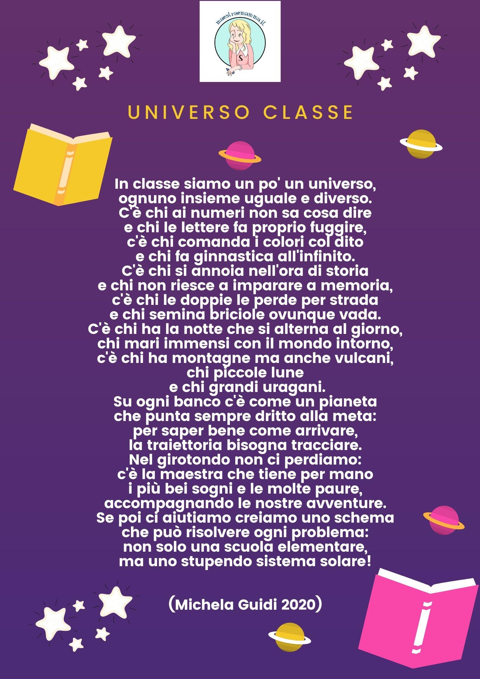 universo classe - poesia bambini scuola accoglienza michela guidi