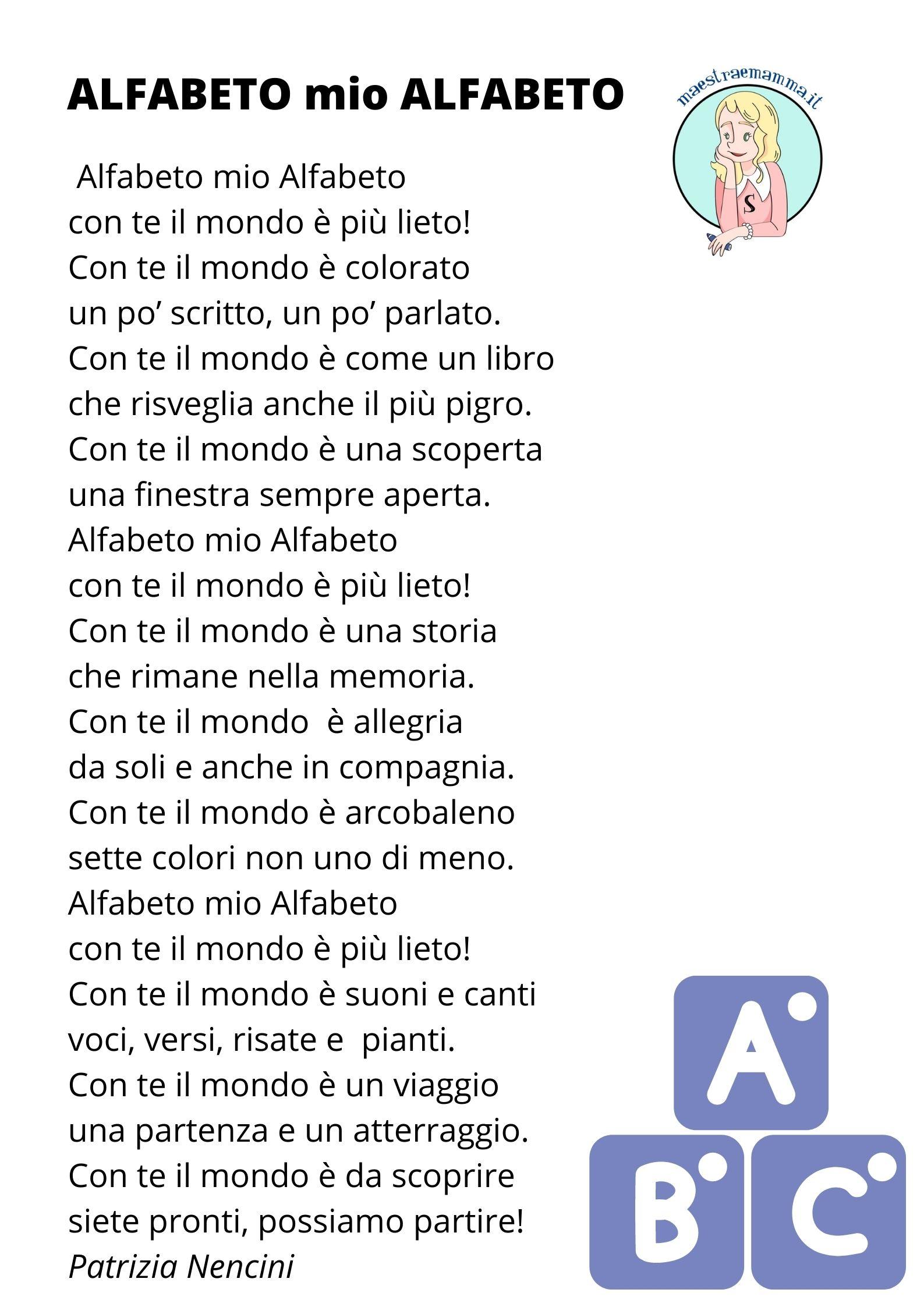 filastrocca ALFABETO mio ALFABETO
