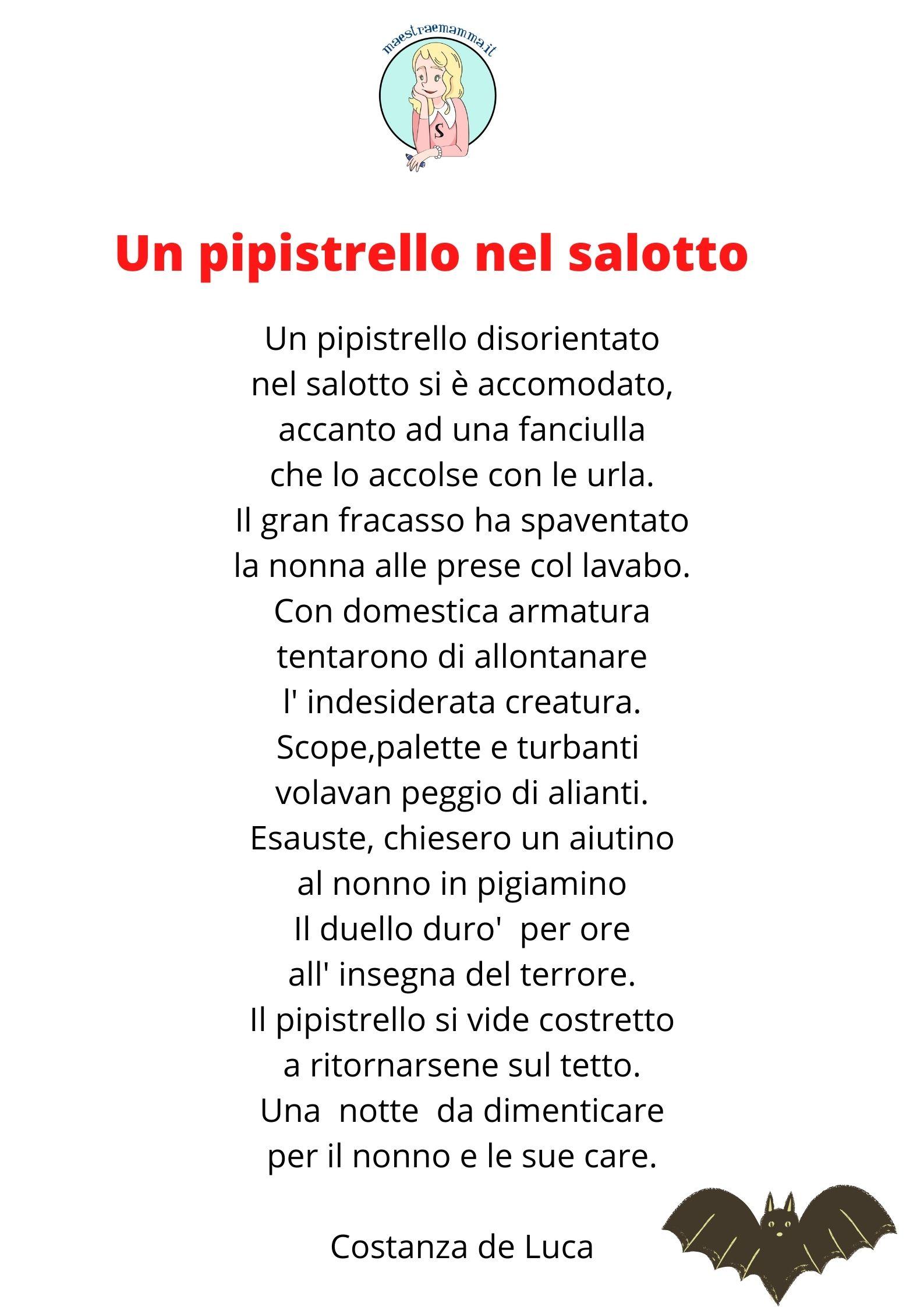 Un pipistrello nel salotto - poesia di Costanza De Luca