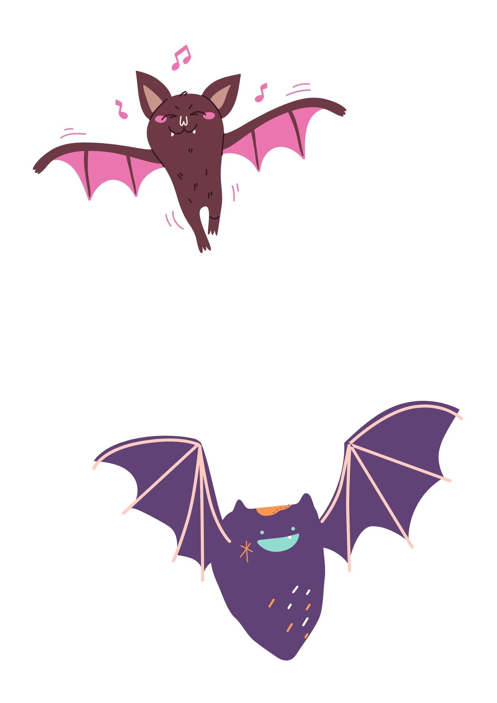pipistrello jack lanterna Disegni e sagome Halloween per bambini