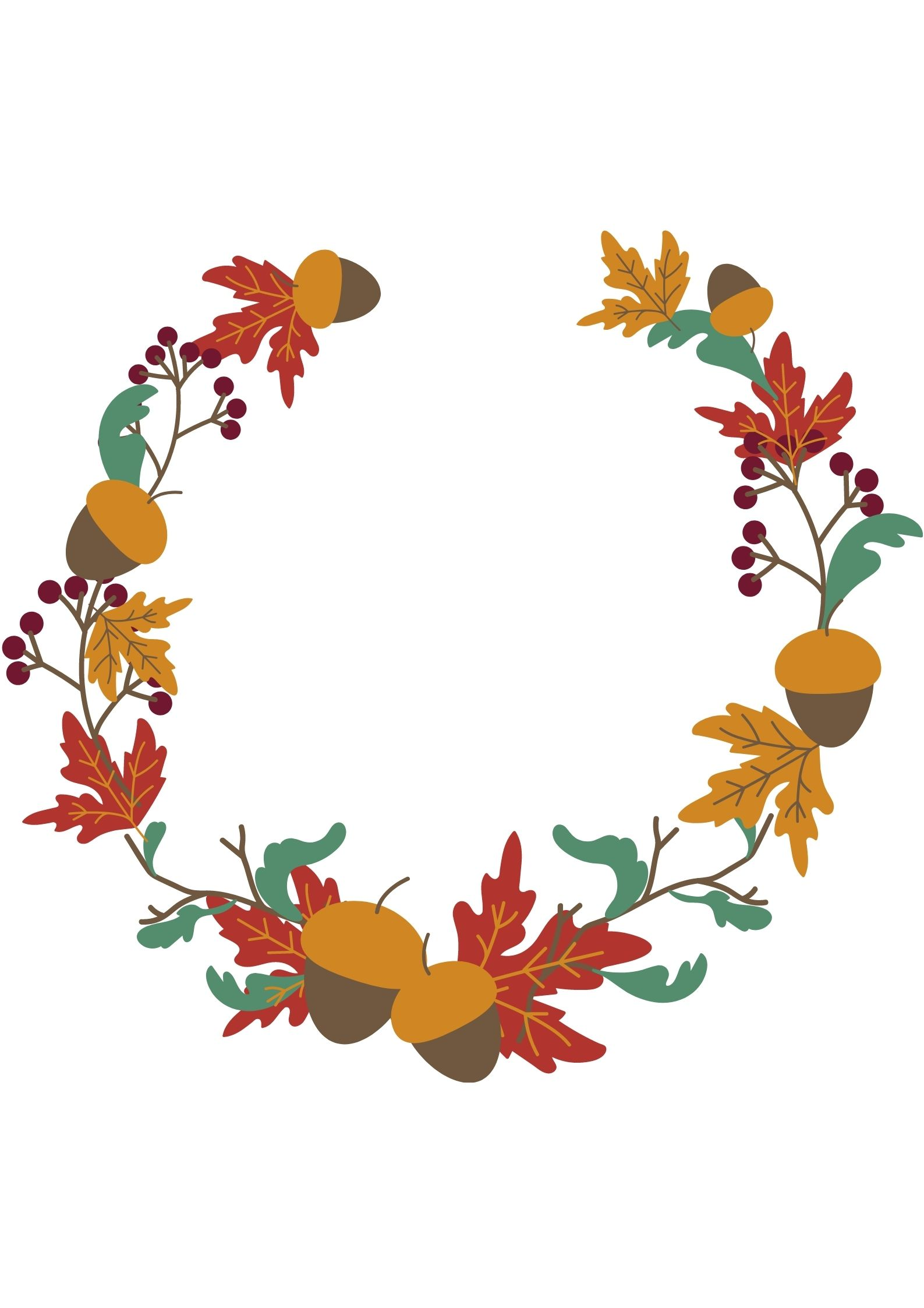 GHIRLANDA GHIRLANDE Disegni autunno da scaricare