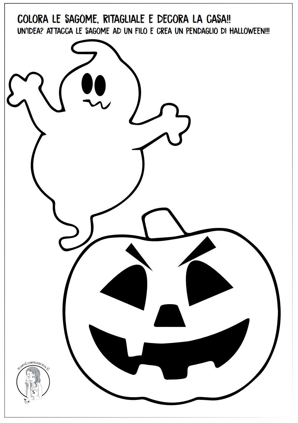 Disegni E Sagome Halloween Per Bambini Maestraemamma