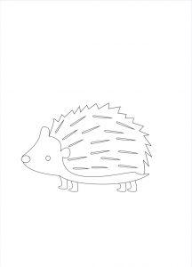 riccio in bianco e nero Disegni autunno per bambini DISEGNI SULL'AUTUNNO DA STAMPARE A COLORI E IN BIANCO E NERO