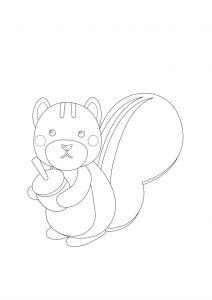 Disegni autunno per bambini DISEGNI AUTUNNO SULL'AUTUNNO DA STAMPARE A COLORI E IN BIANCO E NERO scoiattolo