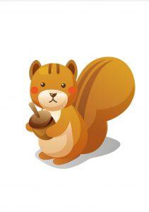 scoiattolo Disegni autunno per bambini DISEGNI AUTUNNO SULL'AUTUNNO DA STAMPARE A COLORI E IN BIANCO E NERO